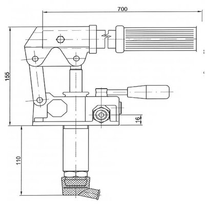 Handpomp 25cc dubbelwerkend (tank montage)
