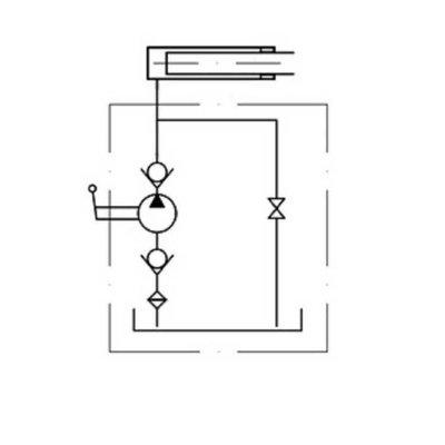 Handpomp 50cc enkelwerkend