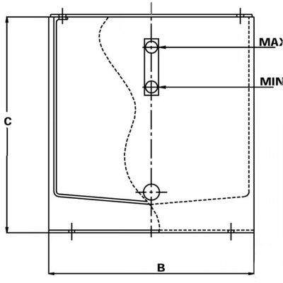 Stalen hydrauliektank PSTM met deksel 300 liter