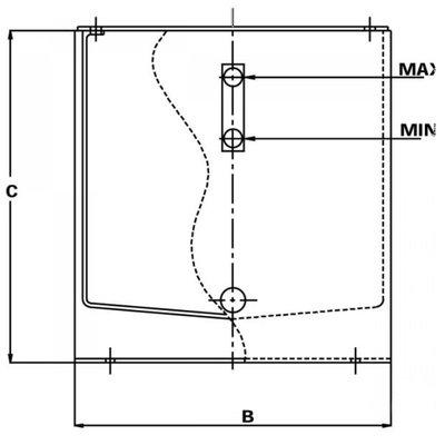 Stalen hydrauliektank PSTM 35 liter complete set