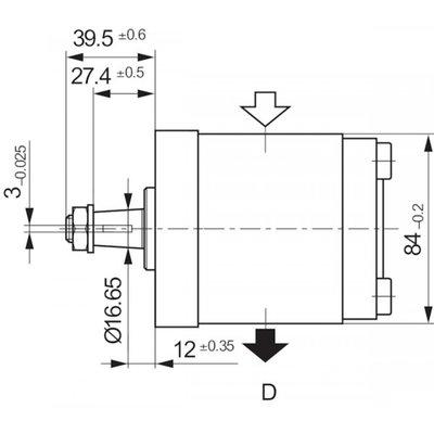 28 cc Bosch Rexroth tandwielpomp rechts met 1:8 conische as