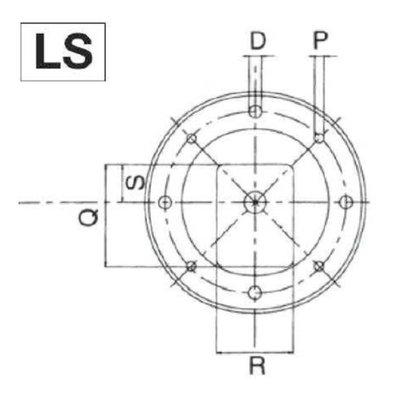 Lantaarnstuk Groep 1, Flens 250 mm