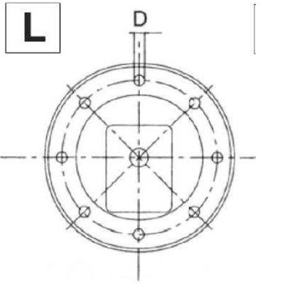 Lantaarnstuk Groep 2, Flens 350 mm