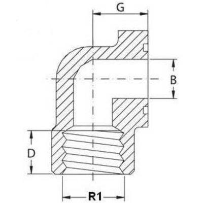 Pompflens haaks, 4 gaats 3/4'' BSP (40mm)