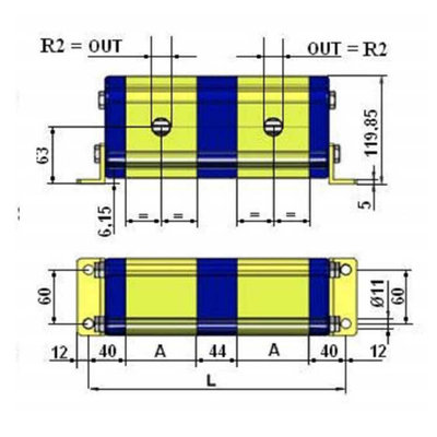 Verdeelmotor, 2 voudig, 26,4-55 l/min