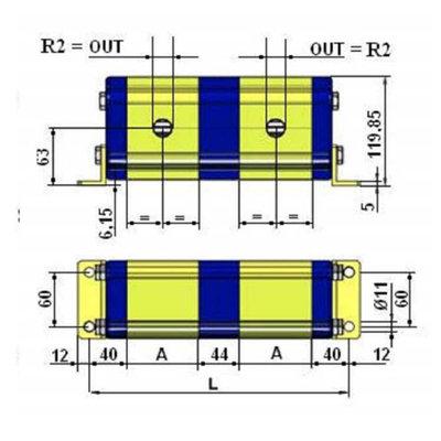 Verdeelmotor, 4 voudig, 36-75 l/min