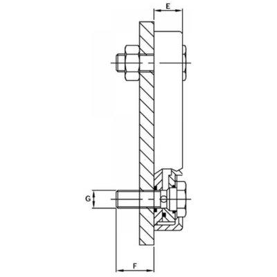Peilglas met thermometer, aansluiting M12, lengte 254 mm (LVA-TA)