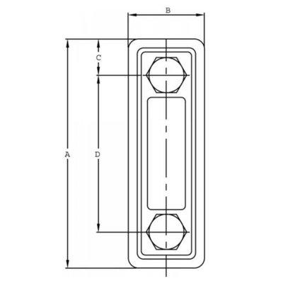 Peilglas met thermometer, aansluiting M10, lengte 76 mm (LVA-TA)