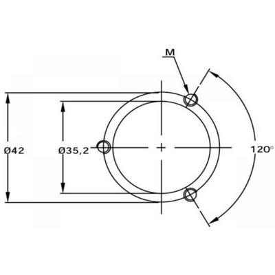 Elektrische niveaumeter, hydrauliektank, Flens, 350 mm (LEN)