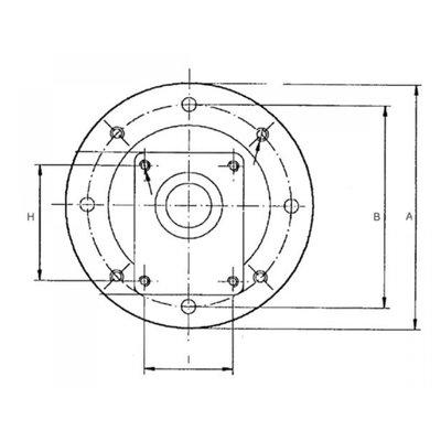 Lantaarnstuk E2 groep 2, Flens 350 mm