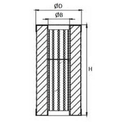 Hydrauliektank retourfilter cartridge 100 L/min 25μ