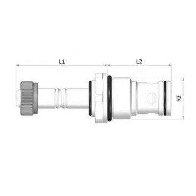 2/2 hydrauliek klep met terugslagklep NC 1/2