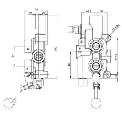 Hydraulische houtklover stuurventiel met auto-return