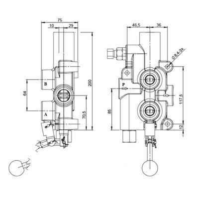 P81RS Houtklover stuurschuif, auto-return, 2 speed functie