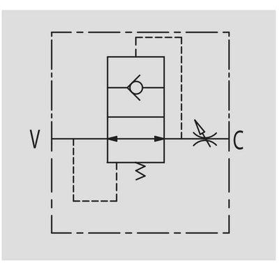 Slangbreukventiel - VUBA 1/4'' BSP MFF/MFF