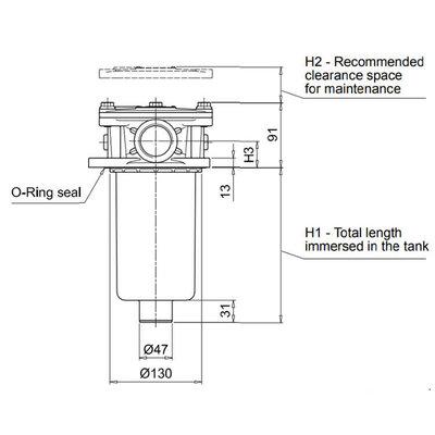 Hydrauliek retourfilter 1