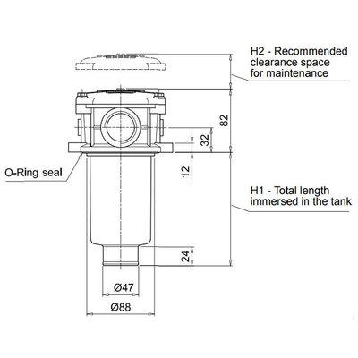Hydrauliektank retourfilter 1