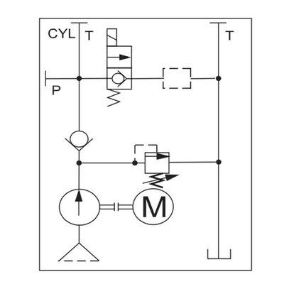 Tussenblok enkelwerkend (daalventiel) elektrisch