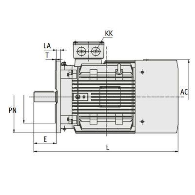 IE3 Elektromotor 7,5 kW, 230/400 Volt Voetflensbevestiging B3-B5, 1000 RPM