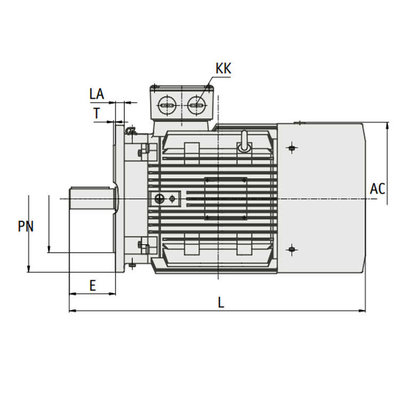 IE3 Elektromotor 45 kW, 230/400 Volt Voetflensbevestiging B3-B5, 3000 RPM