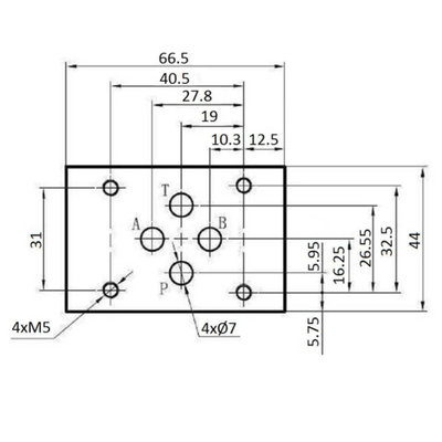 NG6 24V Cetop Elektrisch 4/3 stuurventiel, ABPT Gesloten