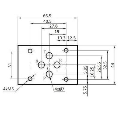 NG6 12V Cetop Elektrisch 4/3 stuurventiel, ABT Verbonden P Gesloten
