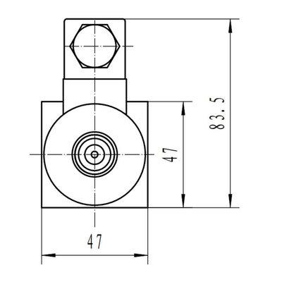 NG6 12V Cetop Elektrisch 4/3 stuurventiel, PT Verbonden AB Gesloten