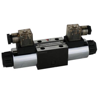 NG6 230V Cetop Elektrisch 4/3 stuurventiel, PT Verbonden AB Gesloten