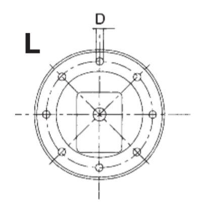 Lantaarnstuk E1 groep 1, Flens 160 mm