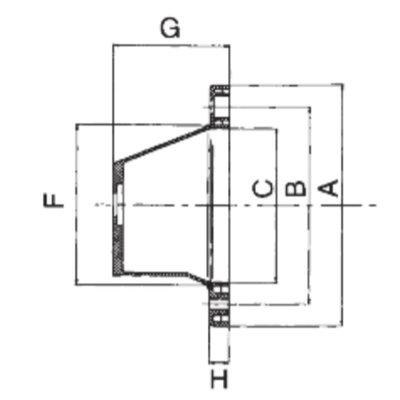 Lantaarnstuk groep 0,5, Flens 200 mm