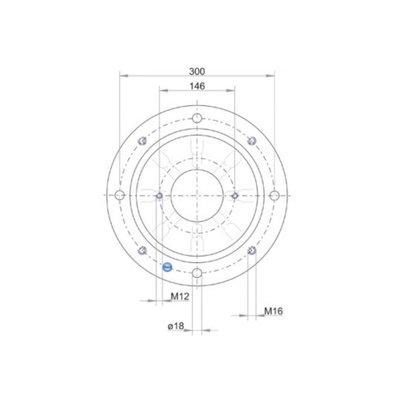 Lantaarnstuk LKJ SAE-B, Flens 350 mm 2