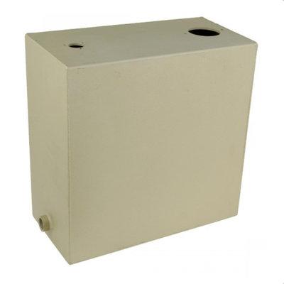 Stalen hydrauliektank KVT met zuigaansluiting en retourfilter 15 liter