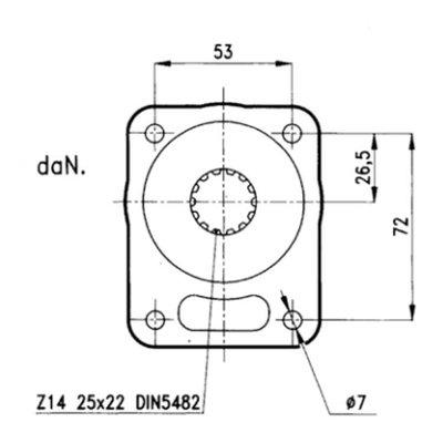 Voorzetlager voor hydrauliek pomp of motor groep 1