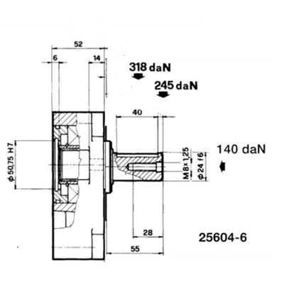 Voorzetlager voor hydrauliek pomp of motor groep 3