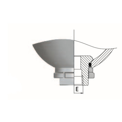 Saip balgaccumulator type LA1.5 145-270 bar vuldruk st. 35 bar M18x1,5 aansluiting 1,5l