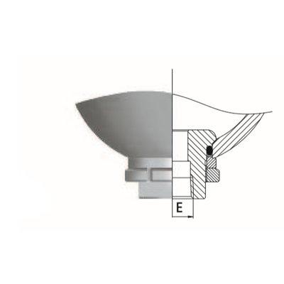 Saip balgaccumulator type LA1.5 145-270 bar vuldruk st. 50 bar M18x1,5 aansluiting 1,5l