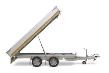 Hydraulische 2,5T trailer / kipper set met handpomp