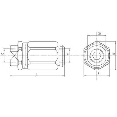 Dubbelwerkend snelheidsregelventiel - VRB 1/4''