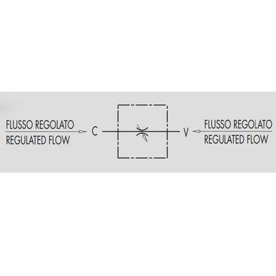 Dubbelwerkend snelheidsregelventiel - VRB 3/8