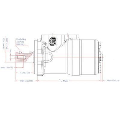 Danfoss OMP 32 cc hydraulische motor 25 mm as
