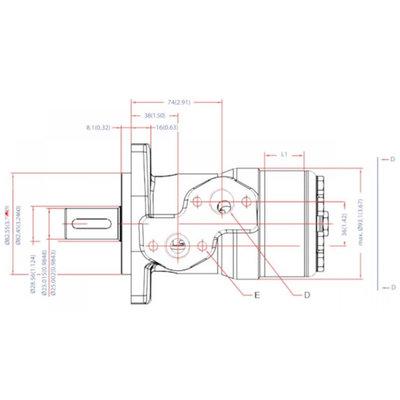 Danfoss OMP 40 cc hydraulische motor 25 mm as