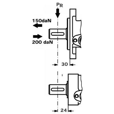 Danfoss OMP 50 cc hydraulische motor 25 mm as