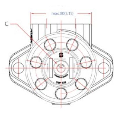 Danfoss OMP 315 cc hydraulische motor 25 mm as