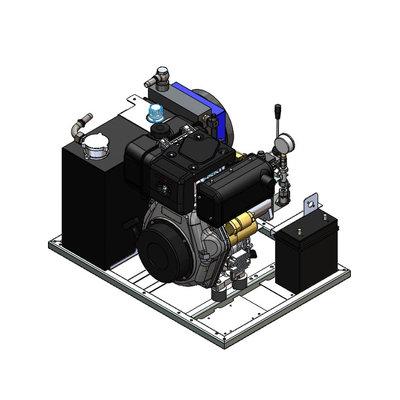 Hydrauliek aggregaat powerpack met 10 pk dieselmotor