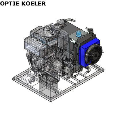 Hydrauliek aggregaat/powerpack met 10pk Yanmar dieselmotor