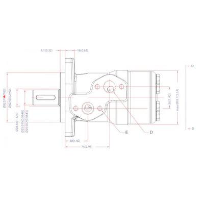 Danfoss OMP 80 cc hydraulische motor 25 mm as