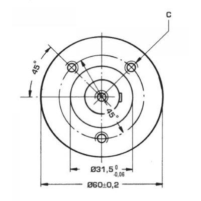 Danfoss OMM 32 cc hydraulische motor 16 mm as met zijaansluiting