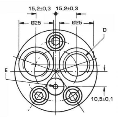 Danfoss OMM 50 cc hydraulische motor 16 mm as met zijaansluiting