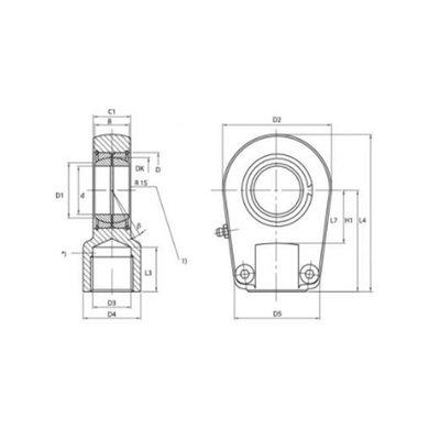 Gelenkoog met binnendiameter 30 mm voor cilinder