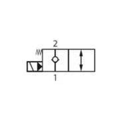 Cartridge NC voor 2/2 klep 60 L/min